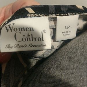 women with control Tops - Easy Care & Wear Geometric Black Top LP